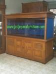 Meja Aquarium Jati Minimalis AQJ-02 Bufet Aquarium
