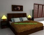 Set Tempat Tidur Minimalis JTM-09 Jati Jepara Furniture