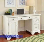 Meja Kantor Minimalis MKN-01 Finishing Duco Putih