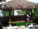 Gazebo Taman Rumah Kayu Kelapa Bandung Jawa Barat JGG-16