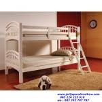 Tempat Tidur Anak Putih Mewah Terbaru Model Tingkat