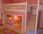 Tempat Tidur Anak Tingkat Pink Cantik
